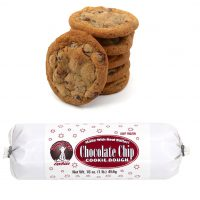 Hungry Bear Cookies Chocolate Chip Cookie Dough. Made with real butter! Keep frozen. Net weight: 16 ounces or 1 pound or 454 grams