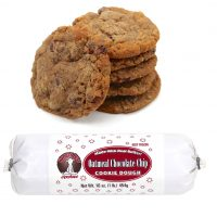 Hungry Bear Cookies - Oatmeal Chocolate Chip Cookie Dough. Made with real butter! Keep frozen. Net weight: 16 ounces or 1 pound or 454 grams