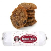 Hungry Bear Cookies - Oatmeal Raisin Cookie Dough. Made with real butter! Keep frozen. Net weight: 16 ounces or 1 pound or 454 grams