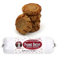 Hungry Bear Cookies - Peanut Butter Cookie Dough. Made with real butter! Keep frozen. Net weight: 16 ounces or 1 pound or 454 grams