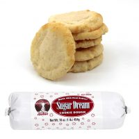 Hungry Bear Cookies - Sugar Dream Cookie Dough. Made with real butter! Keep frozen. Net weight: 16 ounces or 1 pound or 454 grams
